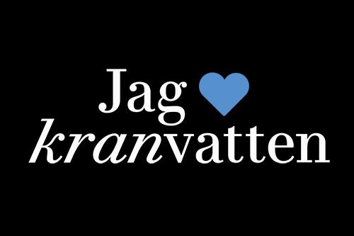 Logotyp: Jag älskar kranvatten
